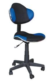 Fotel obrotowy Q-G2 - czarny/niebieski