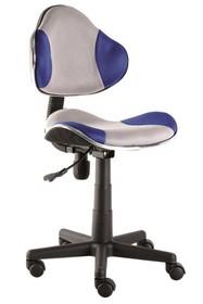 Fotel obrotowy Q-G2 - szary/niebieski