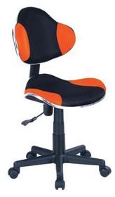 Fotel obrotowy Q-G2 - czarny/pomarańczowy