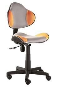 Fotel obrotowy Q-G2 - szary/pomarańczowy