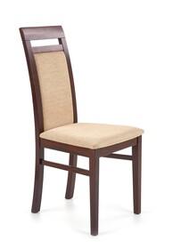 Krzesło ALBERT - ciemny orzech/beż