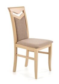 Krzesło CITRONE - dąb sonoma/beż