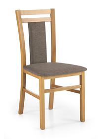 Krzesło HUBERT 8 - olcha/brązowy