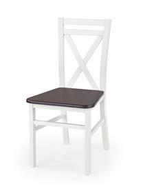 Krzesło drewniane DARIUSZ 2 - białe/ciemny orzech