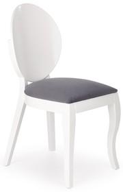 Krzesło drewniane VERDI - biały/popiel