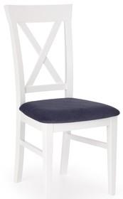 Krzesło drewniane BERGAMO - biały/granatowy