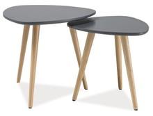 Wymiary stolika 1:  - wysokość: 43 cm - długość: 48 cm - szerokość: 48 cm  Wymiary stolika 2:  - wysokość: 39 zł - długość: 40 cm -...