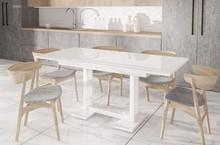 Rozkładany stół DAKAR doskonale pasuje do nowoczesnej kuchni lub jadalni. Prostokątny blat oraz nogi stołu DAKAR wyprodukowane z płyty laminowanej....