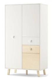 Pojemna szafa dwudrzwiowa z kolekcji MAGI jest funkcjonalna i bardzo nowoczesna. Komplet szuflad, szafek, półek i drążków sprosta wymaganiom maleńkich...