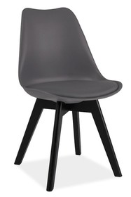 Krzesło KRIS II - czarny/szary