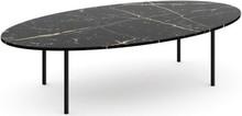 STOLIK MARMUROWY MOON ELIPSA ITALY  Prostą konstrukcję stolika kawowego marki ABSYNTH tworzy blat z marmuru oraz nóżki ze stali (do wyboru brąz...