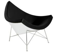Fotel COCONUT - biały/czarny