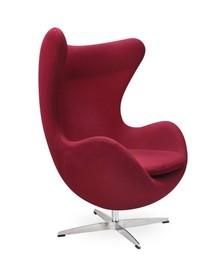 Fotel EGG CLASSIC wełna - bordowy
