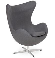 Fotel EGG CLASSIC wełna - grafitowy szary