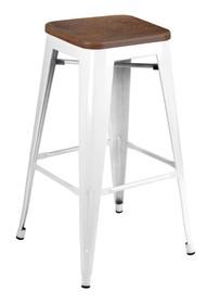 Hoker wykonano ze stali, siedzisko z drewna.<br />Waga netto 1 szt.: 5 kg<br />Waga opakowania: 6 kg<br />Maksymalna ilość szt. w...