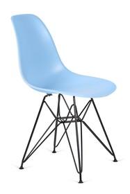 Krzesło DSR BLACK - jasny niebieski