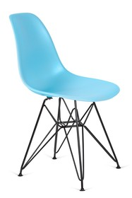 Krzesło DSR BLACK - oceaniczny niebieski