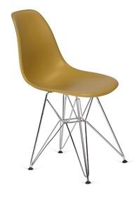 Krzesło DSR SILVER - imbirowy