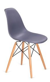 Krzesło DSW WOOD - ciemny szary