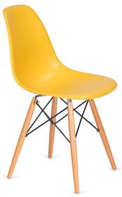 Krzesło DSW WOOD - kanarkowy
