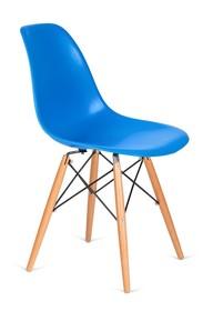 Krzesło DSW WOOD - niebieski