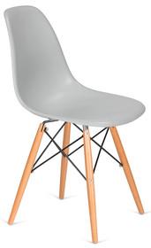 Krzesło DSW WOOD - platynowy