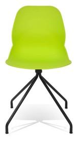 Krzesło wykonane z polipropylenu.<br />Nogi stal lakierowane na czarno.<br />Waga netto 1 szt.: 4 kg<br />Waga opakowania: 5 kg<br...