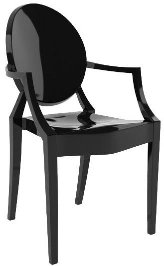 Topnotch Krzesło LOUIS czarne - poliwęglan, KHOME - Meble - sklep meble.pl FO21