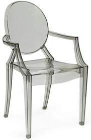 Krzesło LOUIS poliwęglan - dymiony