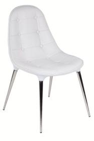Krzesło PASSION ekoskóra - biały