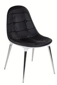 Krzesło PASSION ekoskóra - czarny/biały
