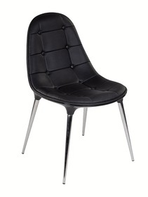 Krzesło PASSION ekoskóra - czarny