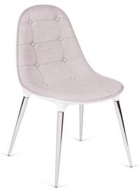 Krzesło PASSION tkanina - biały/beżowy