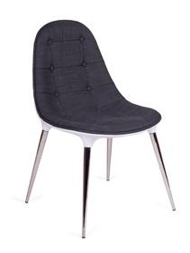 Krzesło PASSION tkanina - biały/szary