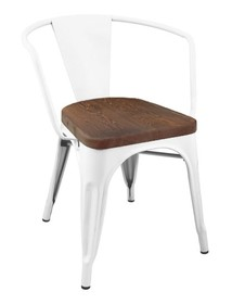 Krzesło TOWER ARM WOOD - sosna antyczna/biały
