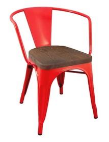 Krzesło TOWER ARM WOOD - sosna antyczna/czerwony