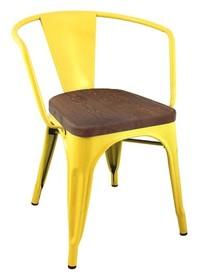 Krzesło TOWER ARM WOOD - sosna antyczna/żółty