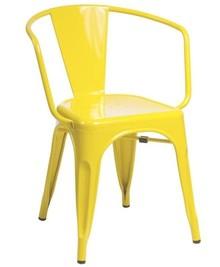 Krzesło TOWER ARM - żółty