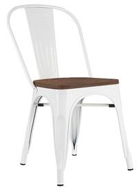 Krzesło wykonano ze stali, siedzisko z drewna.<br />Waga netto 1 szt.: 5 kg<br />Waga opakowania: 6 kg<br />Maksymalna ilość szt. w...