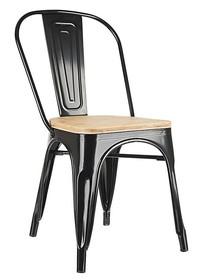 Krzesło TOWER WOOD - czarny/jesion