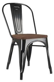 Krzesło TOWER WOOD - czarny/sosna antyczna