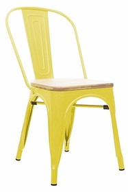 Krzesło TOWER WOOD żółte - jesion, metal