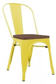 Krzesło TOWER WOOD - żółty/sosna antyczna