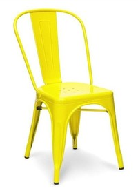 Krzesło TOWER żółte metal