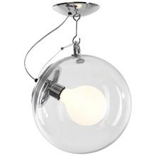 Lampa sufitowawykonana jest z przezroczystego szkła. <br />Elementy z metalu chromowanego.<br />Źródło światła: E 27 max...