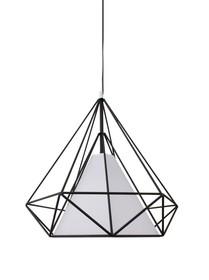 Konstrukcja lampy wykonana z metalowej ramy <br />malowanej proszkowo na kolor czarny matowy.<br />Wewnątrz ramy znajduje się klosz w kolorze...