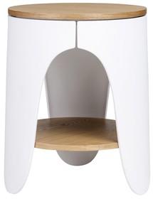 Stolik NIVEL - jesion/biały