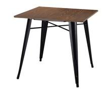 Stół TOWER WOOD - sosna antyczna/czarny