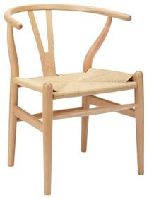 Krzesło WISHBONE - naturalny/włókno naturalne