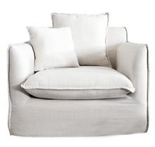 Fotel SVAMP biały - tkanina